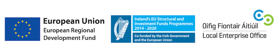 European Regional Development fund, Eu Structural Fund and Local Enterprise office Logos