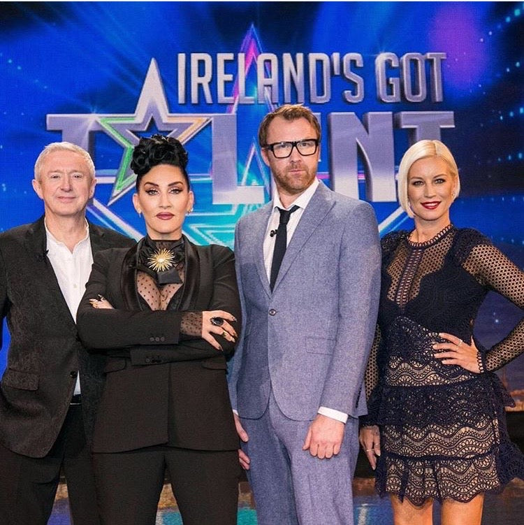 Irelands Got Talent Judges Louis Walsh Michelle Visage Denise Jason Byrne VanOuten