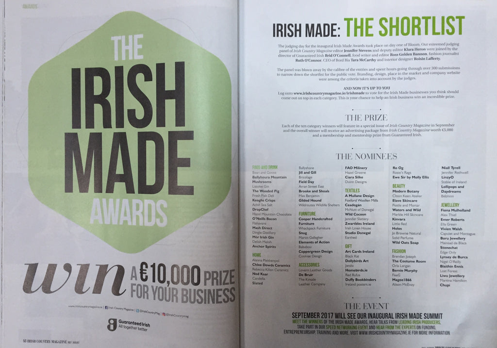 Irish Country Magazine Irish Made Awards The Shortlist