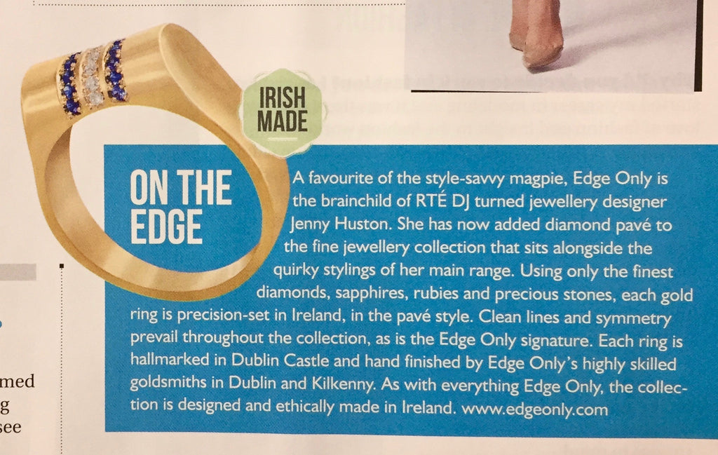 Irish Country Magazine June 2017 Edge Only Diamond Pavé - Sapphire and Diamond Hight Tpp RIng
