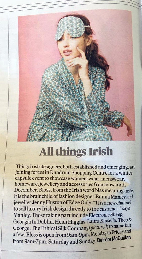 Irish Times - All things Irish. Bloss.  Co founded by Edge Only Jewellery designer Jenny Huston