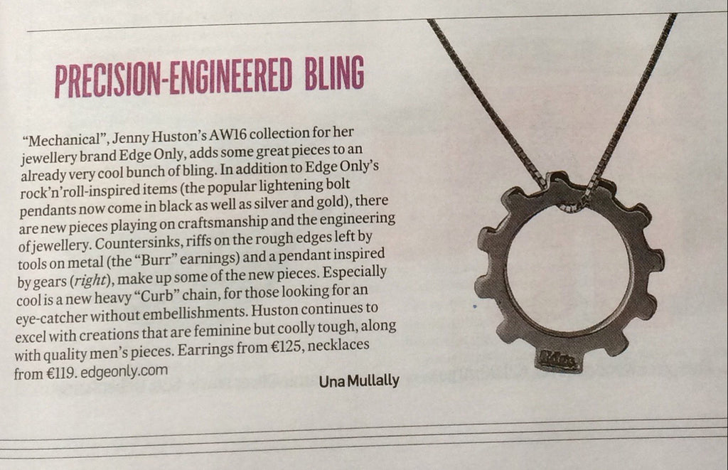 Irish Times precision-engineered bling Edge Only jewellery by Una Mullally Mechanical collection