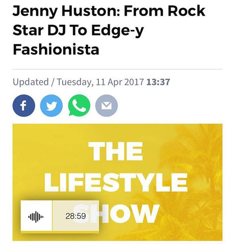 Jenny Huston: From Rock Star DJ To Edge-y Fashionista RTE The Lifestyle Show Tarragh Loughrey-Grant