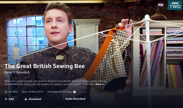 Joe Lycett The Great British Sewing Bee S5 EP06 Edge Only POW necklace