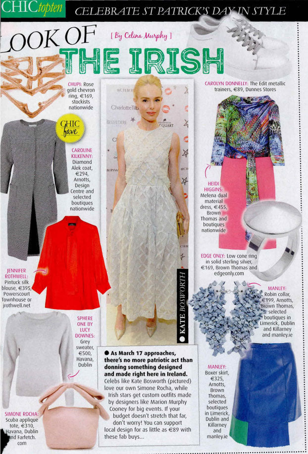 Irish Daily Star Chic Look of The Irish Edge Only Low Cone Ring