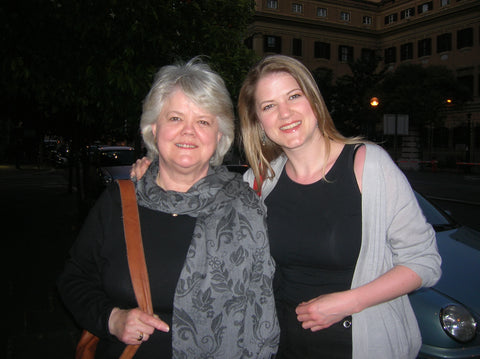 Jane Huston and Jenny Huston, Rome Italy May 2008