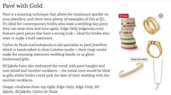 Pave with gold article Bridal Buyer