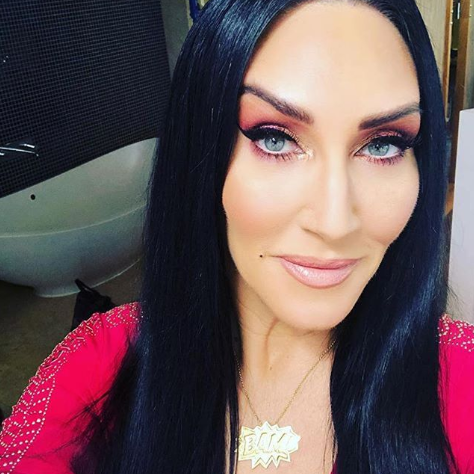 Michelle Visage looking sublime on Ireland's Got Talent wearing our Extra Large Gold BAM! Pendant.