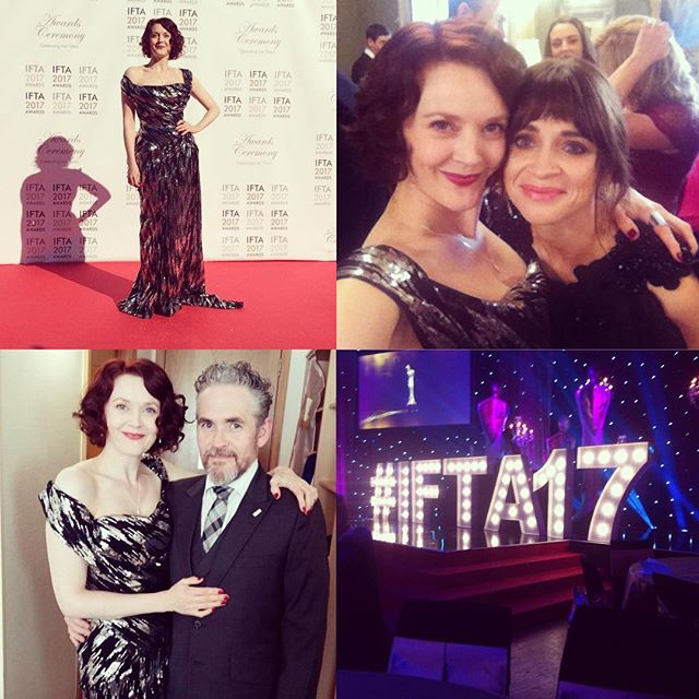 So much talent! Simone Kirby, Charlene McKenna, Fergal McElherron at The IFTA Awards (Simone and Fergal are both rocking Edge Only jewellery).