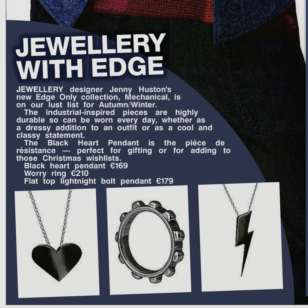 Irish Sun newspaper Edge Only jewellery sat sept 17, 2016