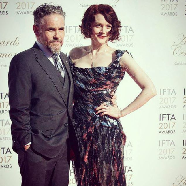 That's red carpet style! The stellar Fergal McElherron at The IFTA Awards with Simone Kirby. Fergal wearing Edge Only's Rugged Lapel Pin and Simone rocking our 3D Pointed Lightning Bolt Earrings, Pointed Lightning Bolt Lapel Pin, Wedge Ring and Parallel Ring.