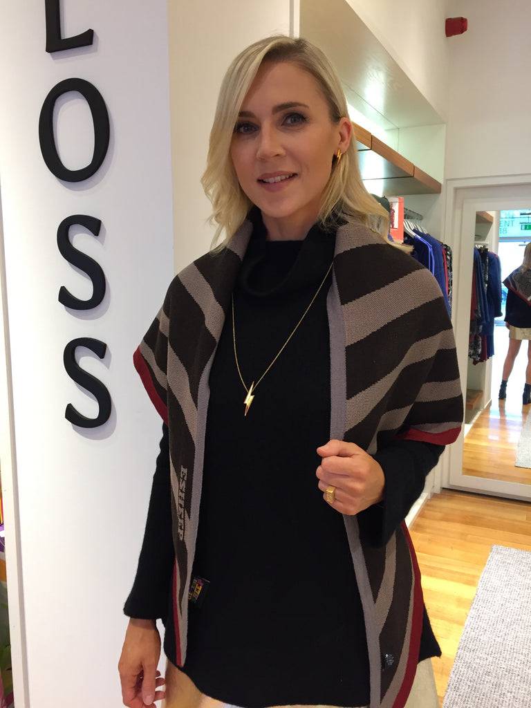 Sarah McGovern wearing Edge Only on Xposé TV for Bloss x Dundrum