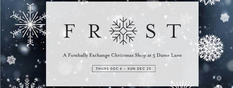 Frost Fumbally Exchange Christmas Shop Poster