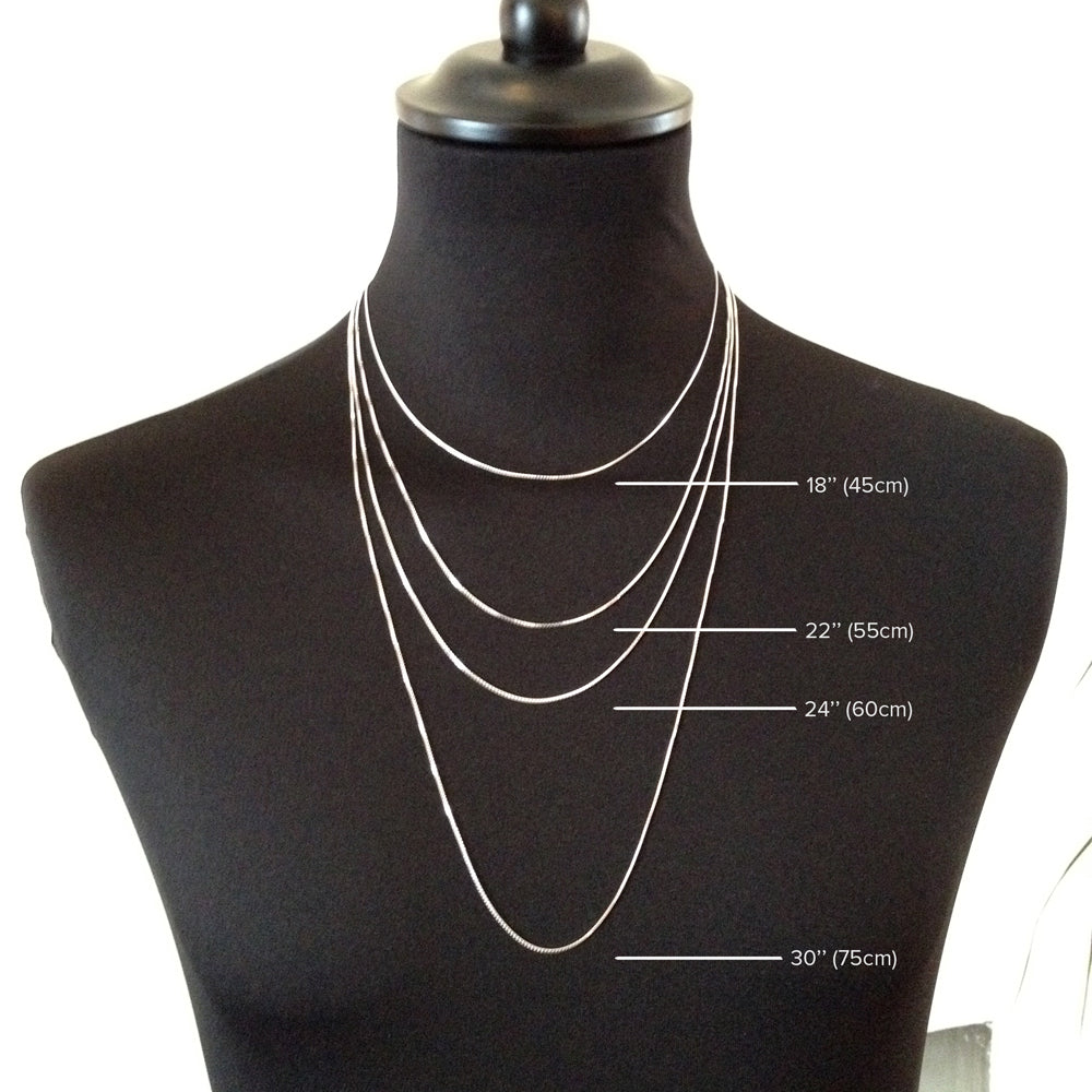 Edge only jewellerys blog luxury jewellery ethically made in i think it goes without saying that all necks are not made equally that being said there is an average and diagrams can be helpful for choosing a chain and mozeypictures Image collections