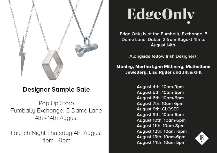 Irish Designer Pop Up in Fumbally Exchange. Edge Only jewellery