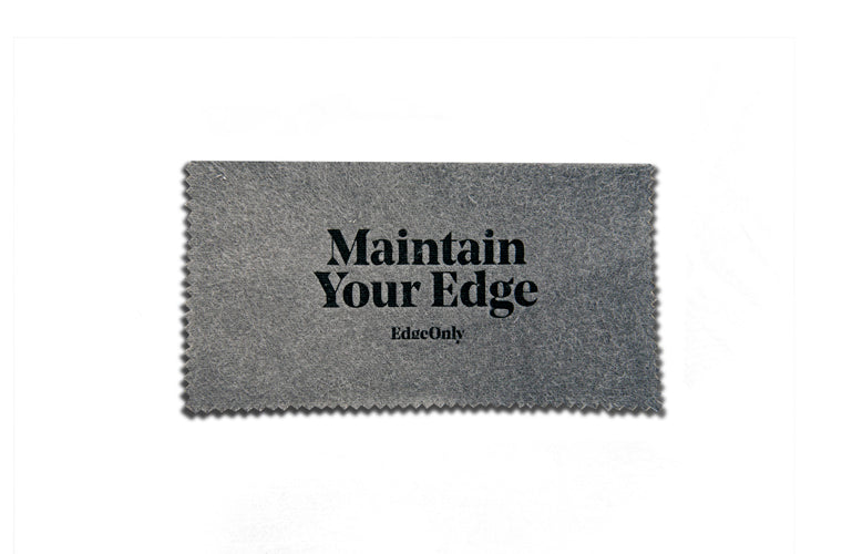 Edge Only Maintain Your Edge silver polishing cloth