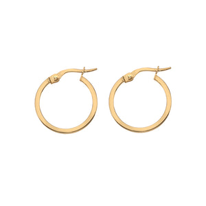 Hoops 10mm Square Wire profile in 9ct gold