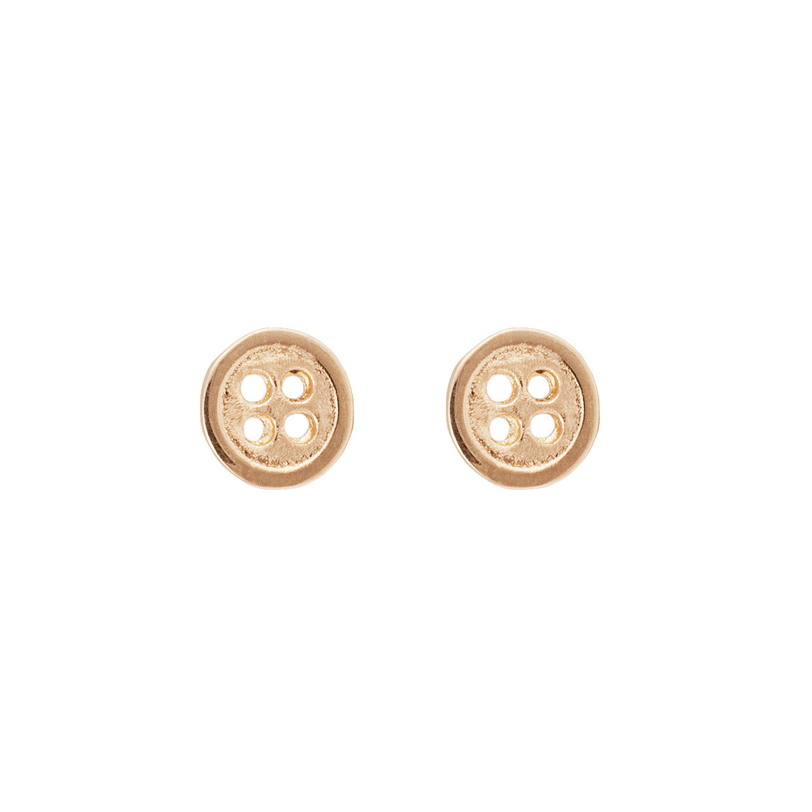 Button Earrings in 14ct Gold