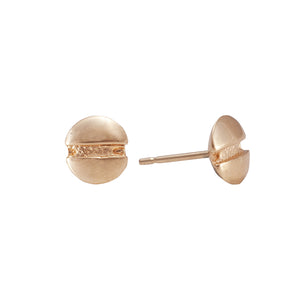 Round-head Screw Earrings in 18ct Gold