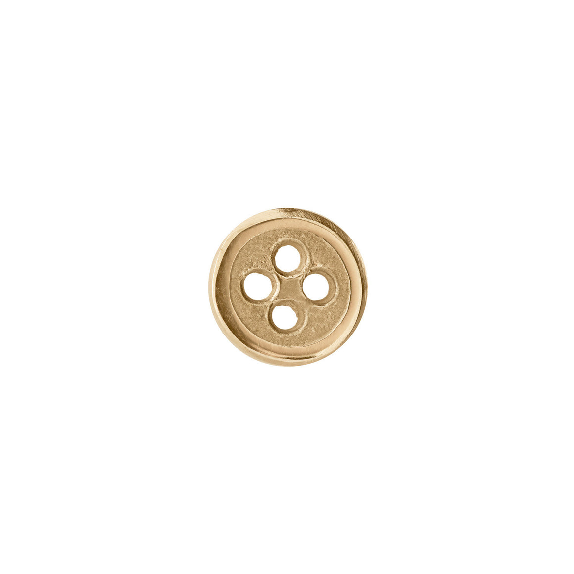 Button Lapel Pin or Tie Tack in 14ct Gold