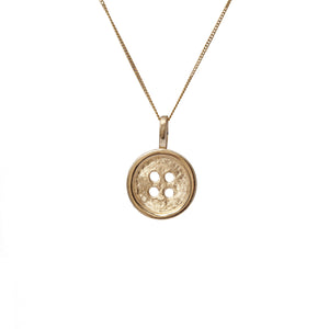 Button Pendant in 14ct Gold