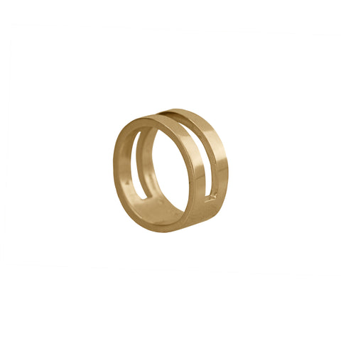 Parellel Ring in 14ct Gold