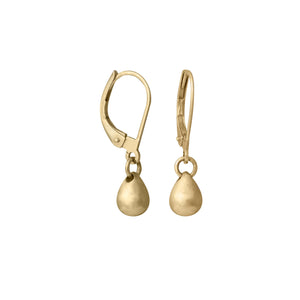 Edge Only Teardrop Earrings in 14ct Gold