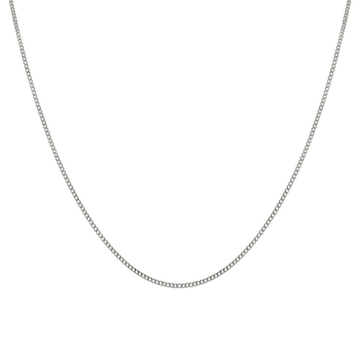 Edge Only 2mm Curb Chain in sterling silver