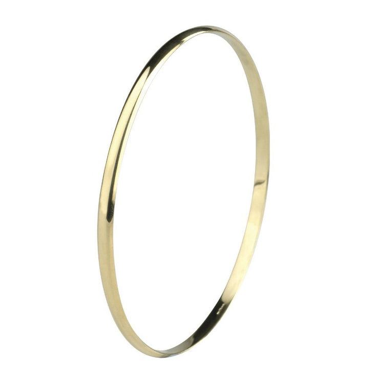 Edge Only Bangle 3.4mm 9 carat gold