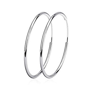Sterling silver sleep hoops 30mm