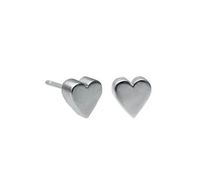 Edge Only 3D Heart Earrings in sterling silver
