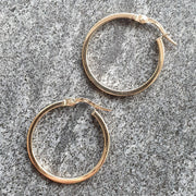 Edge Only 9ct gold 20mm Hoop Earrings