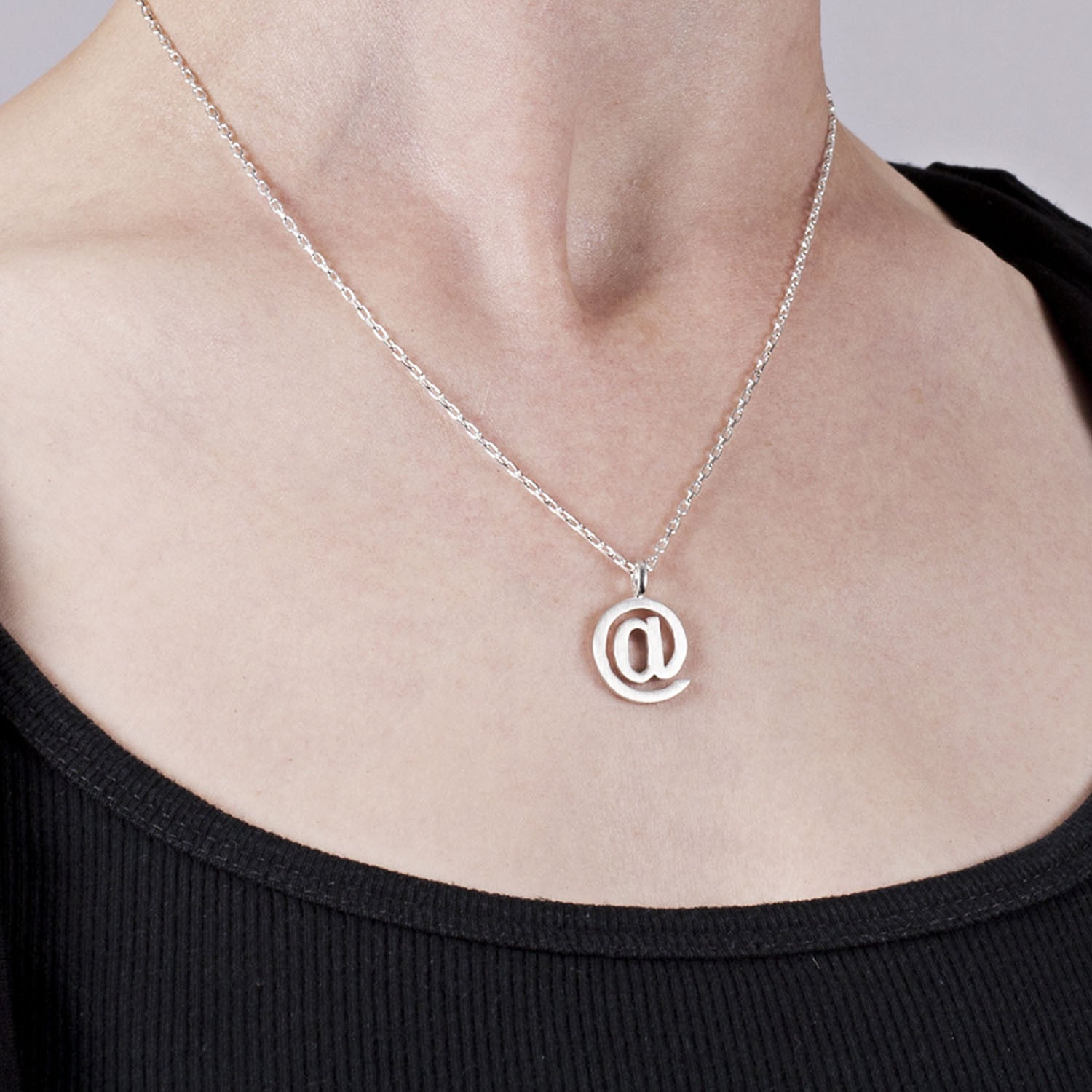 Edge Only At Symbol Pendant in Sterling Silver