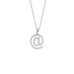 At Symbol Pendant in Matt Sterling Silver