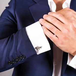 Edge Only Bam Cufflinks in sterling silver