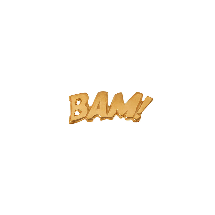 BAM Lapel Pin or Tie Tack in Sterling Silver