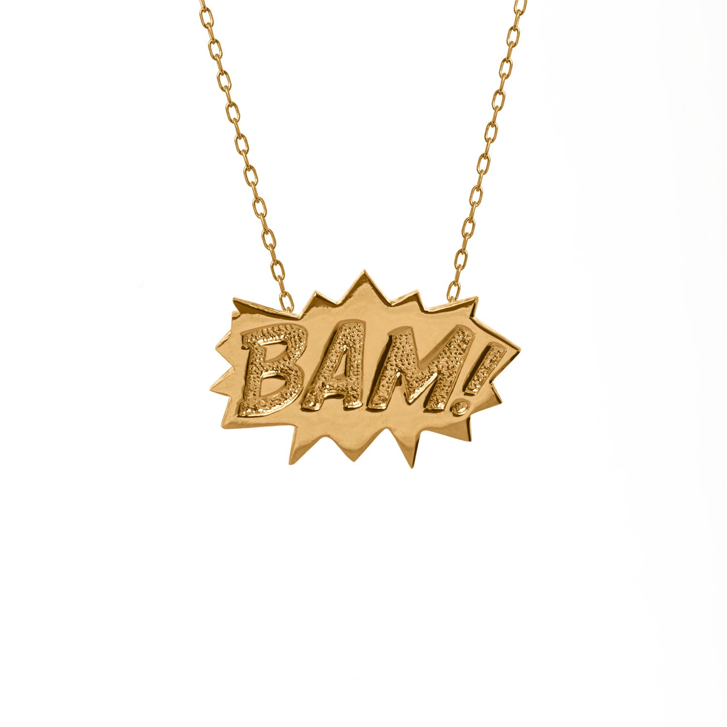 BAM! Pendant Large in sterling silver
