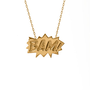 Edge Only BAM Pendant Large in 18ct gold vermeil