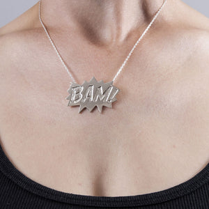 Edge Only BAM Pendant Large in sterling silver
