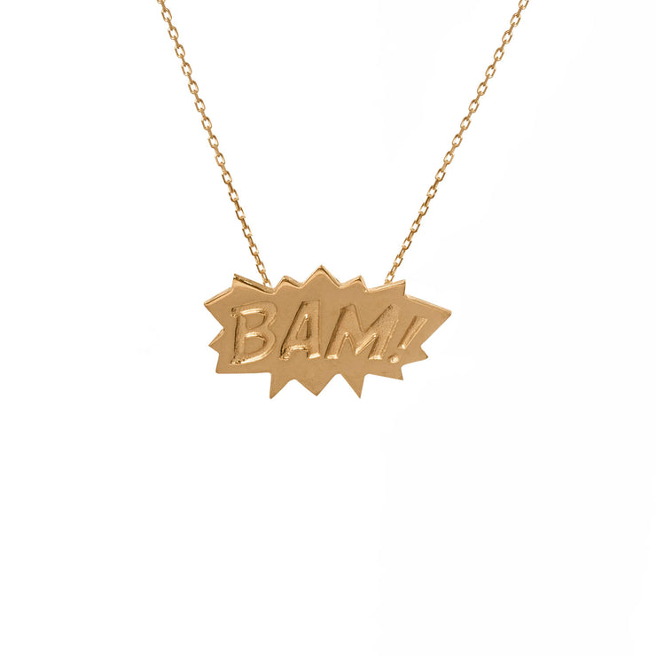Edge Only BAM Pendant in 18ct gold vermeil