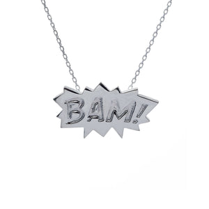 Edge Only BAM Pendant in Sterling Silver