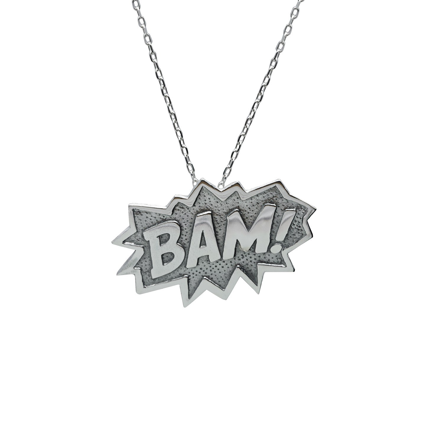 Edge Only BAM Pendant XL in sterling silver