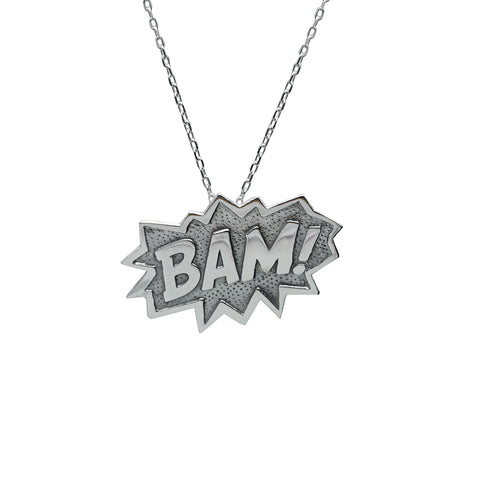 Bam Pendant Extra Large in Sterling Silver