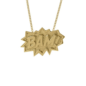 Edge Only BAM! Pendant XL in 18ct gold vermeil