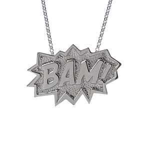 Edge Only BAM! Pendant XL in sterling silver