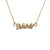 BAM Letters Necklace in 14ct Gold