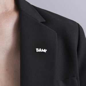Sterling Silver Bam Lapel Pin