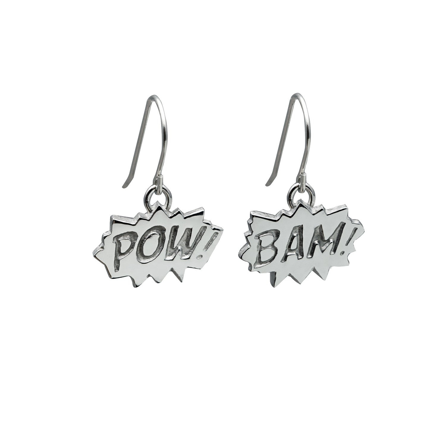 Pow and Bam Drop Earrings