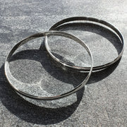 Edge Only Bangles 4.5mm in sterling silver