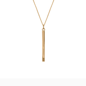 Edge Only Bar Pendant in 18ct gold vermeil